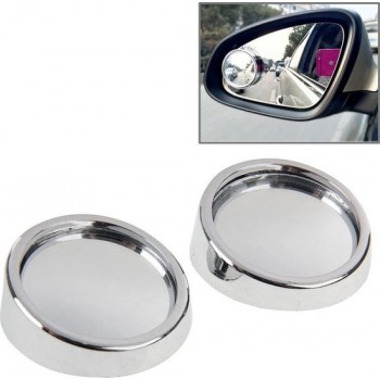 2 STKS SY-022 Autospiegel Spiegel Dode hoek Achteraanzicht Kleine ronde spiegel, Diameter: ongeveer 5,6 cm (zilver)