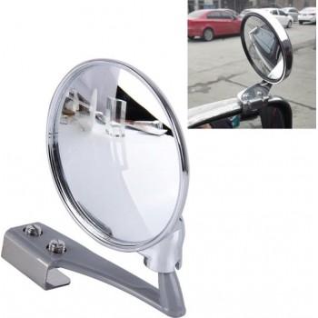 Voertuig Blind vooraanzicht Groothoek verstelbare rechter zijspiegel (zilver)
