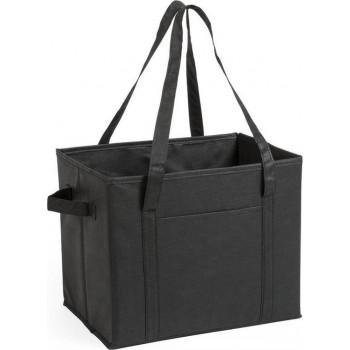 3x stuks auto kofferbak/kasten organizer tassen zwart vouwbaar 34 x 28 x 25 cm - Vouwbaar - Auto opberg accessoires