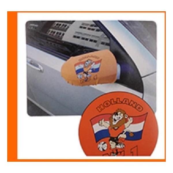 Oranje hoes voor auto spiegel ( set van 2 stuks )