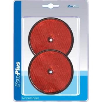 Pro+ Reflector rood 80mm schroefbevestiging 2 stuks in blister