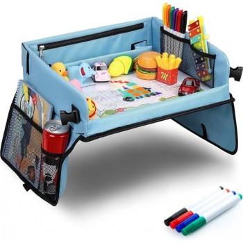 RX Goods® Premium Reistafel met Tekentafel & Tablethouder– Opvouwbaar - Auto Organizer - Whiteboard