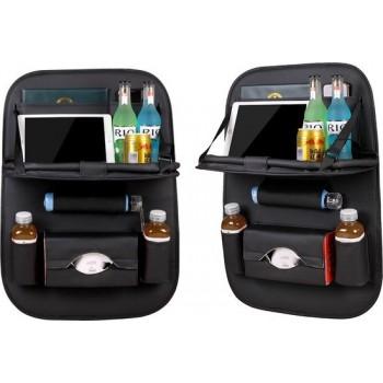 V&B Products Autostoel Organizer – Met uitklapbare Laptophouder - Zwart