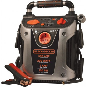 BLACK+DECKER Jumpstarter & Compressor Vg11 (12v 450a) Oranje