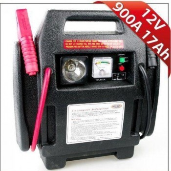 Hofftech  Jumpstarter 4IN1  Voeding 12 volt   Noodverlichting   Compressor, max 17 bar