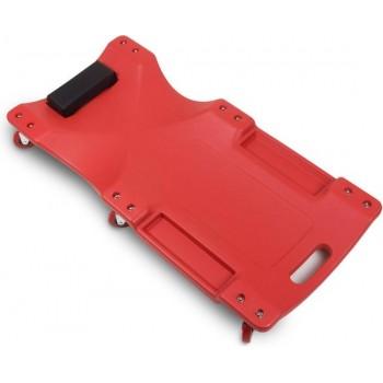 Verrijdbare garage Ligkar  -Monteurskar - Rood - 6  zwenkwielen 75mm
