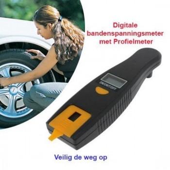 2-Stuks Digitale Bandenspanningsmeter met Profielmeter