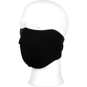 Biker mask half face black