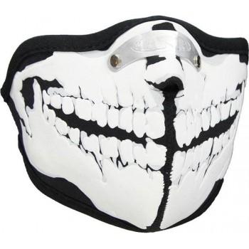 Mondkap Skimasker Skelet Tanden Print Zwart / Wit