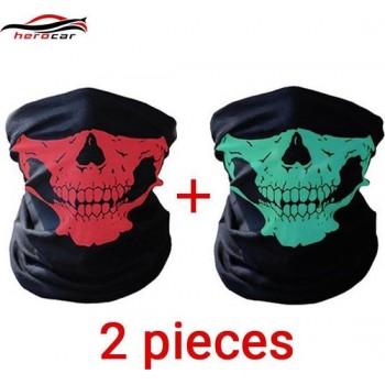 2 Stuks Luxe Biker Mask - Fietsmasker - Motormasker - Bandana - Balaclava - Gezichtsmasker - Bivakmuts