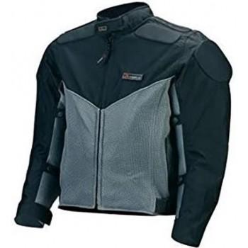 Bottari - motorjack - motorjas - met mesh - zwart en grijs - maat M