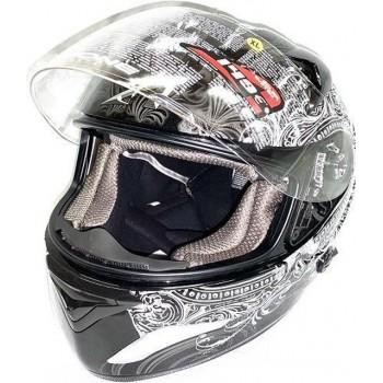 Astone Helm Graphic Empire Zwart / Gravity maat XL ECE Gekwalificeerd