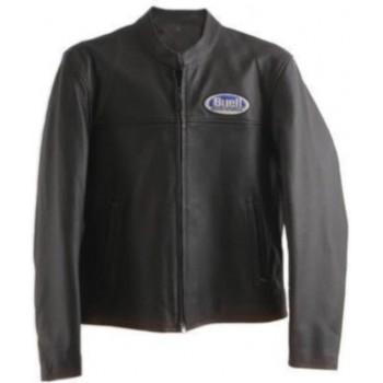 Motorjack Heren – Buell Leather Jacket – Zwart maat 2XL