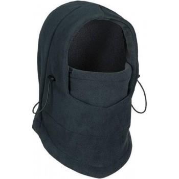Balaclava - Fleece Bivakmuts - Volwassenen - Unisex - One size - Face Mask -  Black - Zwart