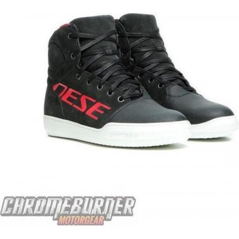 Dainese York D-WP Dark Carbon Red Motorcycle Shoes 39