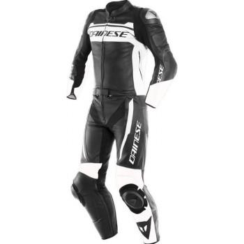 Dainese Mistel Black Matt White Black Matt 2 Piece Motorcycle Suit 46