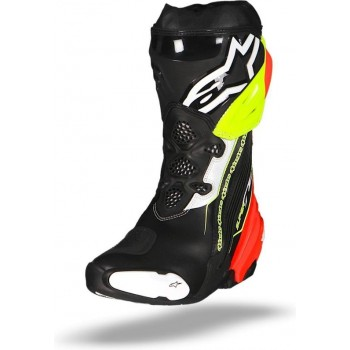 Alpinestars Supertech R Black Red Yellow Fluo Motorcycle Boots 44