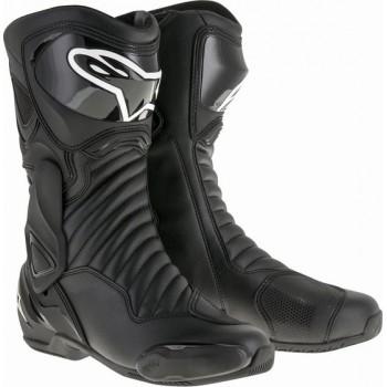 Alpinestars SMX-6 V2 Boots Black Black Motorcycle Boots 45