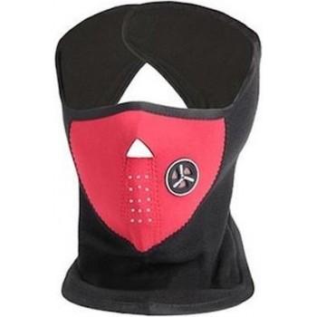 Neopreen Ski Masker - Zwart met Rood