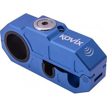 Kovix KHL-B Motor Scooter Grip Lock Handvat Voorrem Slot met 120db Alarm Blauw