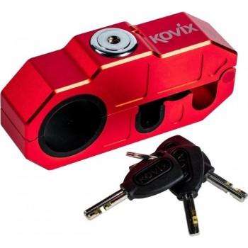 Kovix KHL-R Motor Scooter Grip Lock Handvat Voorrem Slot met 120db Alarm Rood