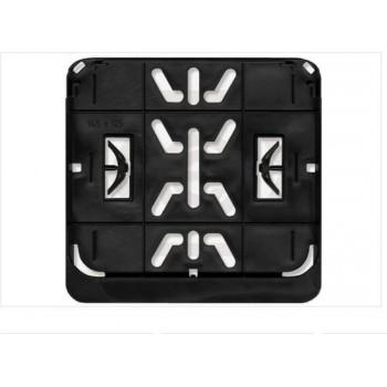 Kentekenplaat houder Premium - Brommer / scooter Snorfiets - Vierkant - 14.5 x 12.5 CM