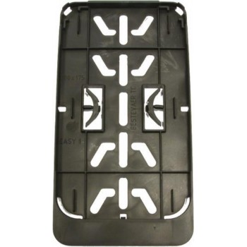 Kentekenplaat houder Premium staand - Brommer snorfiets 17.5 x 10 cm - Clip on - Universeel