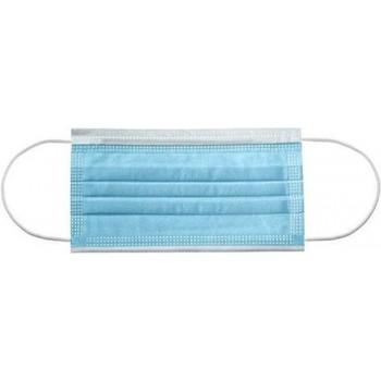 Mondmaskers niet medisch blauw 3 laags hypoallergeen per 50 stuks