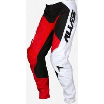 ALIAS A2 Pant Motorbroek Blocked Geblokt Motorcross MX BMX Enduro Red/Black Maat 28