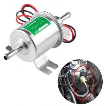 HEP-02A Universele auto 12V brandstofpomp Inline lagedruk elektrische brandstofpomp (zilver)