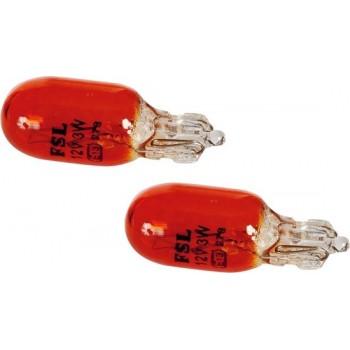 Sumex Autolampen T10 12 Volt 3 Watt Oranje 2 Stuks