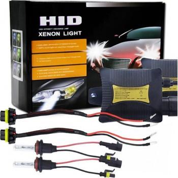 55W H8 / H9 / H11 6000K HID Xenon-lichtconversiekit met Slim Ballast High Intensity Discharge-lamp, wit