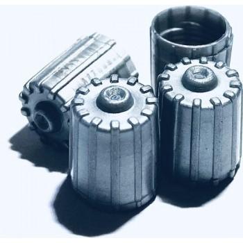 4 TPMS kunststof ventieldopjes voor de auto - grijs ventieldop - ventieldoppen - ventiel - dop - doppen – dopje