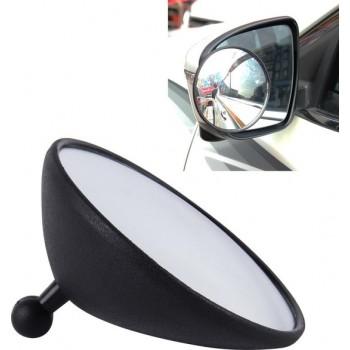 3R-098 Auto Blind Spot Achteraanzicht Wide Angle Mirror, Diameter: 9.8cm (zwart)