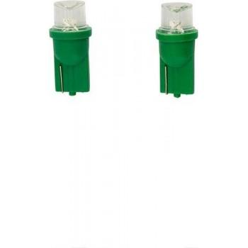 AutoStyle T-8 LED Lampen 12V Groen Wide-Angle, set à 2 stuks
