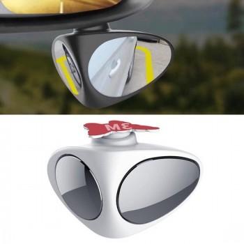 3R-046 360 graden draaibaar rechts blind spot zijkant hulpspiegel voor auto (wit)